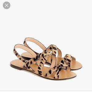 J. Crew Shoes - NWOT J. Crew calf-hair leopard sandals.
